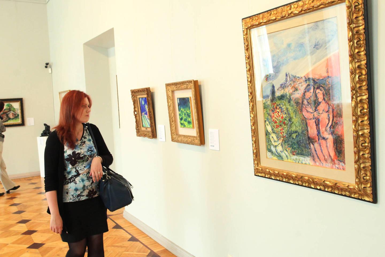 Garsiųjų išeivių iš Baltarusijos kūriniai eksponuojami Vilniuje.<br>M.Ambrazo (ELTA) nuotr.