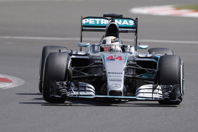 L.Hamiltonas Silverstone yra laimėjęs 2008 ir 2014 metais.<br>AP nuotr.