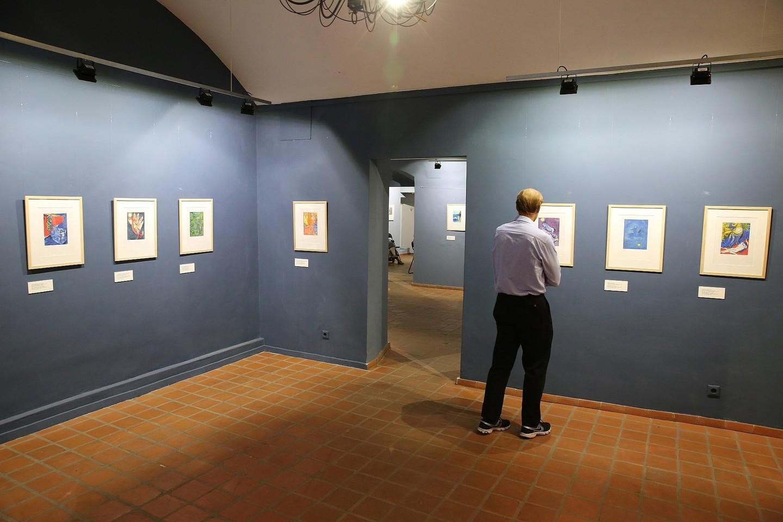 """Lietuvos teatro, muzikos ir kino muziejuje surengta žinomo dailininko Marco Chagallo paroda """"Stebuklo laukimas"""".<br>R.Danisevičiaus nuotr."""