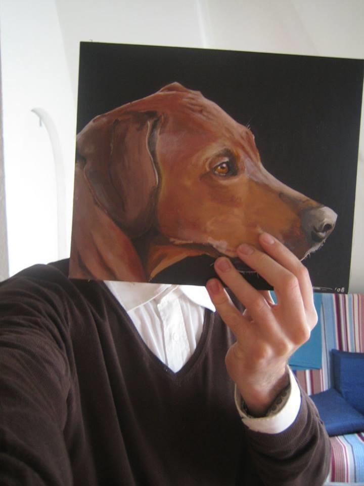J .Teunenas – visame pasaulyje žinomas kaip šunų dailininkas.<br>Asmeninio J. Teunen archyvo nuotr.