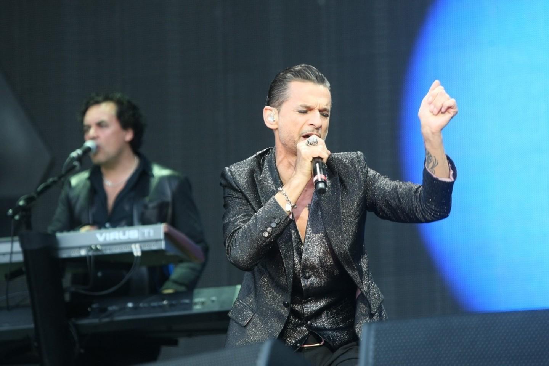 """""""Depeche Mode"""" dainininkas D.Gahanas.<br>R.Danisevičiaus nuotr."""