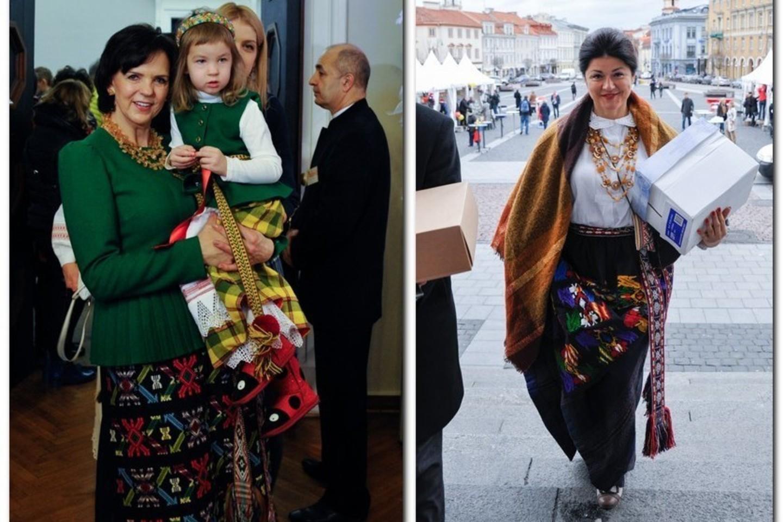 Janina Butkevičienė su anūke Kamile ir Eirida Daukšienė (dešinėje).