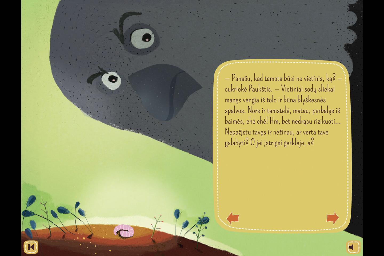 Epizodai iš pasakos, kurią įgarsino Renata Šakalytė-Jakovleva.