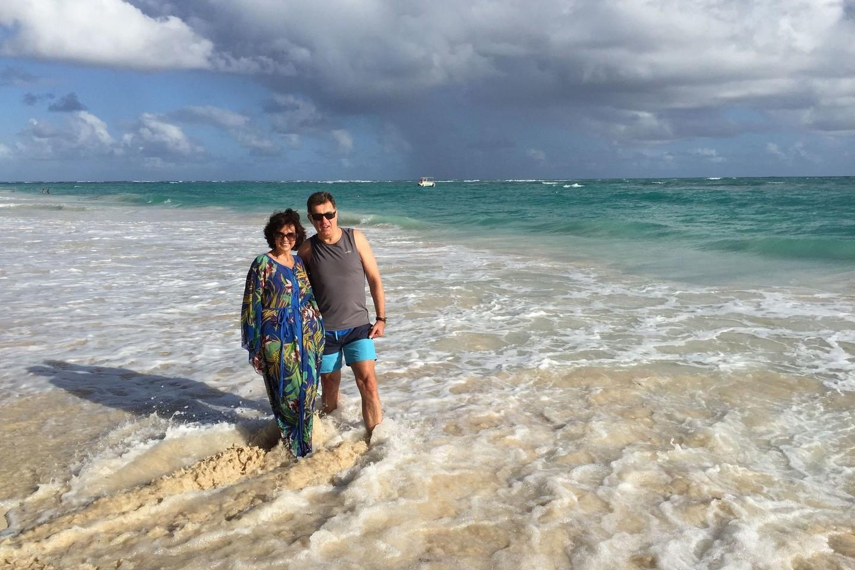 Premjeras su žmona Janina spalvingoje Karibų jūroje.<br>Asmeninio archyvo nuotr.