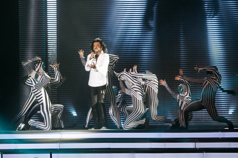 """Lietuvoje dainininkas pristatė savo naujausią šou """"Aš"""".<br>T.Bauro nuotr."""