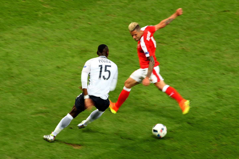 Prancūzijos ir Šveicarijos rungtynės.<br>AP nuotr.