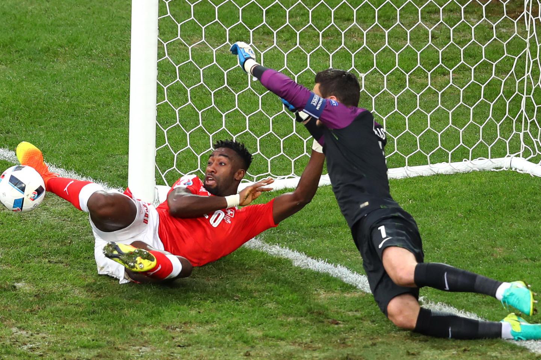 Šveicarijos ir Prancūzijos rungtynės.<br>AP nuotr.