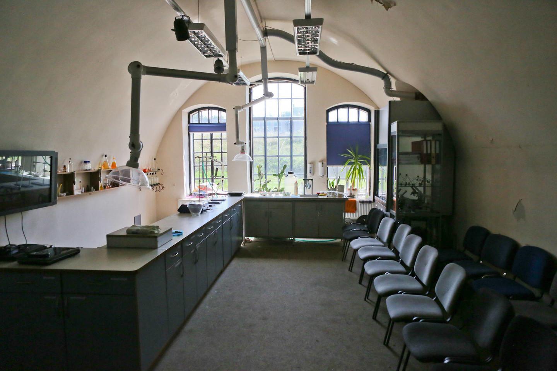 Laboratorijos patalpos pritaikytos priimti vieną klasę.<br>G.Bitvinsko nuotr.