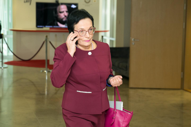 Parlamentarė M.A.Pavilionienė Vilniuje sukėlė avariją, sukdama į kairę.<br>T.Bauro nuotr.