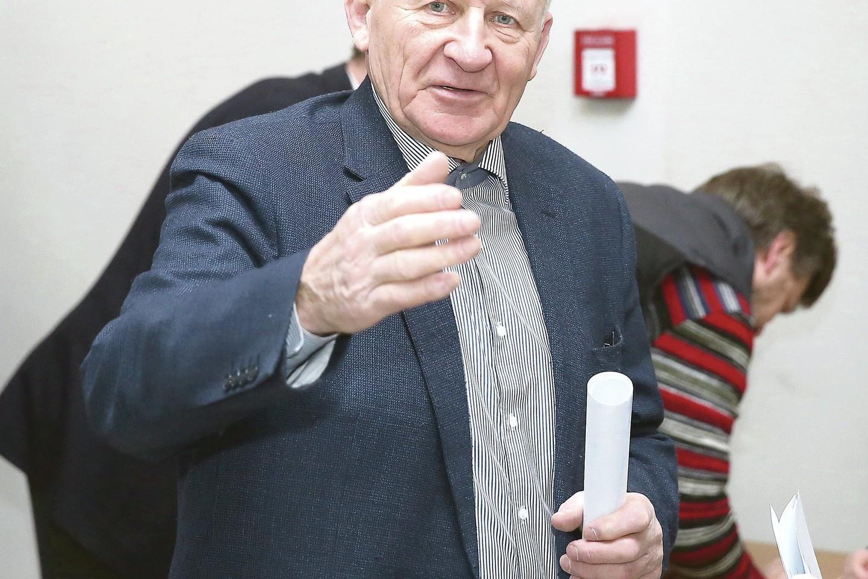 """Vyriausias Seime bus 75 metų """"tvarkietis"""" J.Imbrasas."""