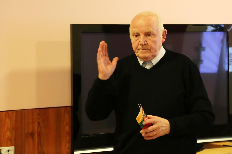Pensininkų partijos atstovas K.Kopūsta, sakė, kad susivienyti bus labai sunku, nes lietuviai nori tik vadovauti.<br>R.Vitkaus nuotr.