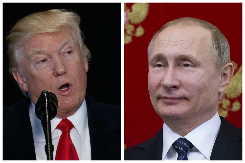 D.Trumpas paragino Rusiją grąžinti Krymą Ukrainai ir sulaukė atsakomojo V.Putino veiksmo.<br>AP nuotr.