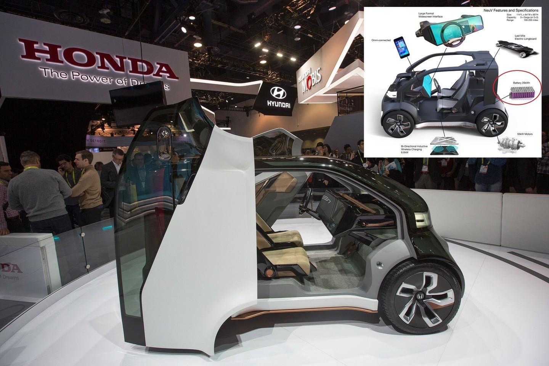 """Lietuvių kurtas akumuliatorius vaizduojamas """"Honda"""" brėžinyje.<br>AFP?Scanpix ir gamintojo nuotr."""