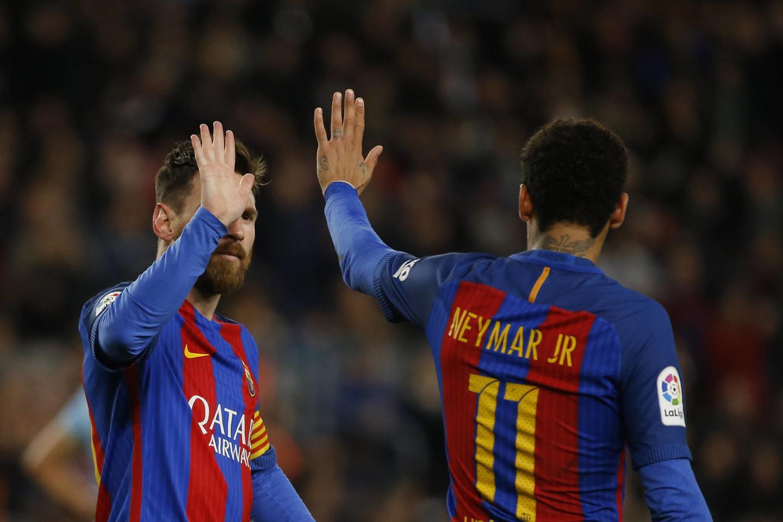 """""""Barcelona"""" turi daug parako, skirto mušti įvarčius.<br>AP nuotr."""