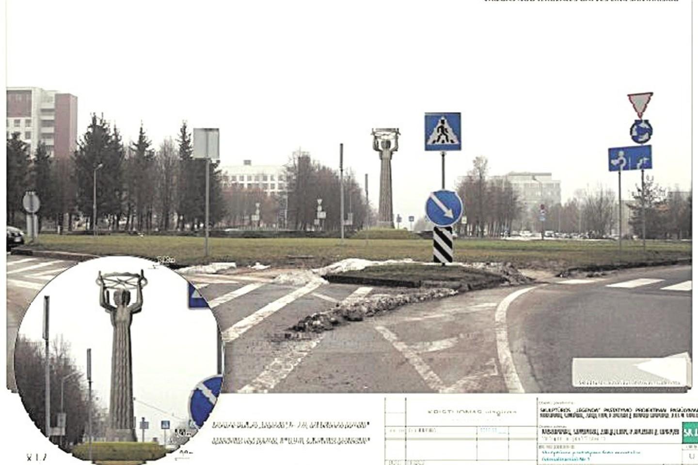 Parengtam skulptūros projektui Santariškių žiede priešinasi tik aviatoriai.<br>D.Umbraso nuotr.