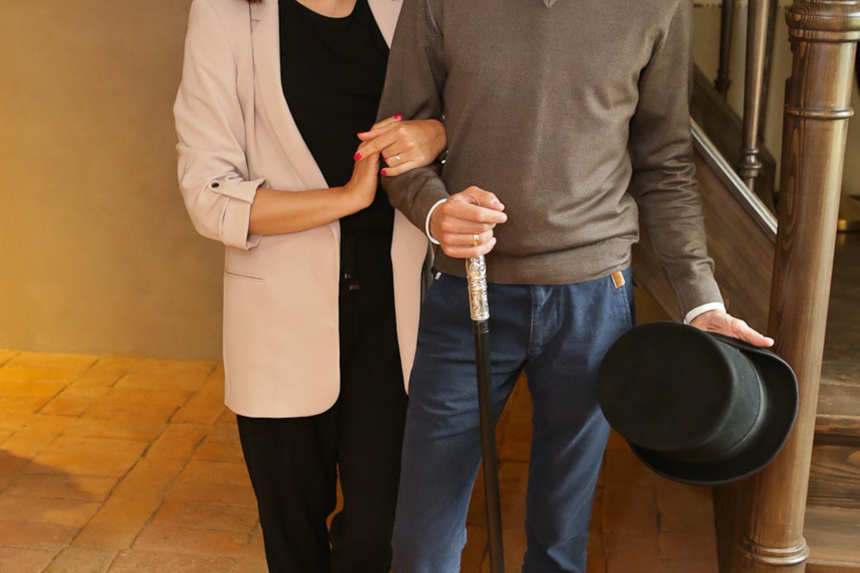 Linas Adomaitis su žmona Irma.<br>G.Bitvinsko nuotr.