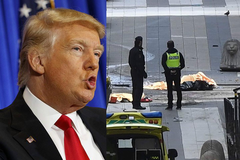 JAV prezidentas D.Trumpas, regis, išpranašavo ateitį, apie kurią nė pats nenujautė.<br>AP nuotr.