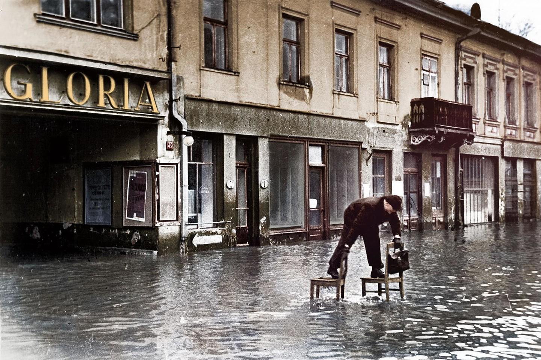 Kauną skandina potvynis. 1931 m.<br>www.simtmeciospalvos.lt nuotr.