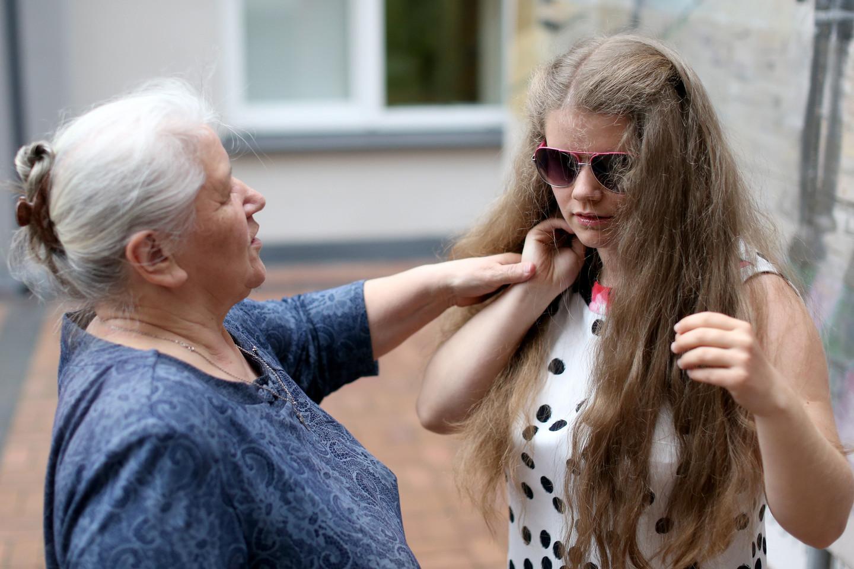 Mergina rūpinosi močiutė ir teta.<br>R.Danisevičiaus nuotr.