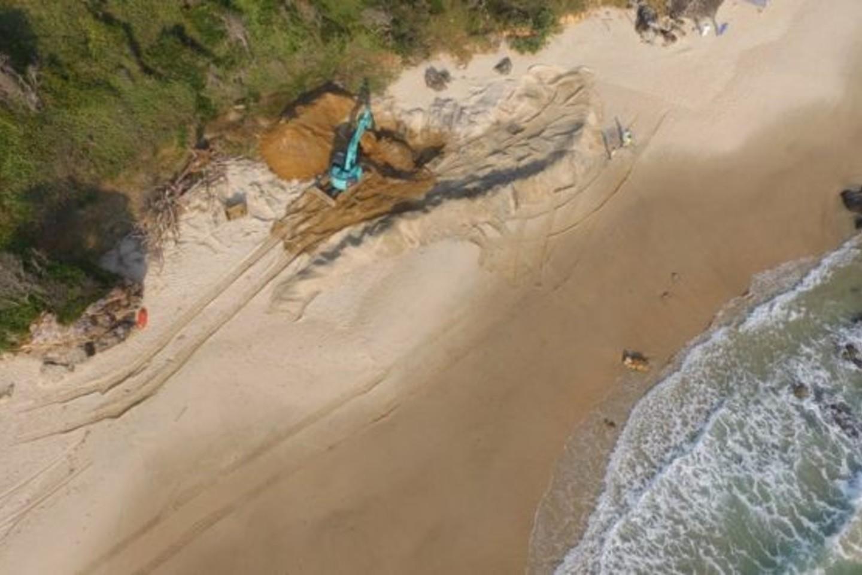 Banginio maita bus iškasta, sukapota ir išgabenta į sąvartyną.<br>Makvorio tarybos nuotr.