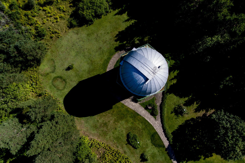 Molėtų astronomijos observatorijos boškto kupolas.<br>V. Ščiavinsko nuotr.
