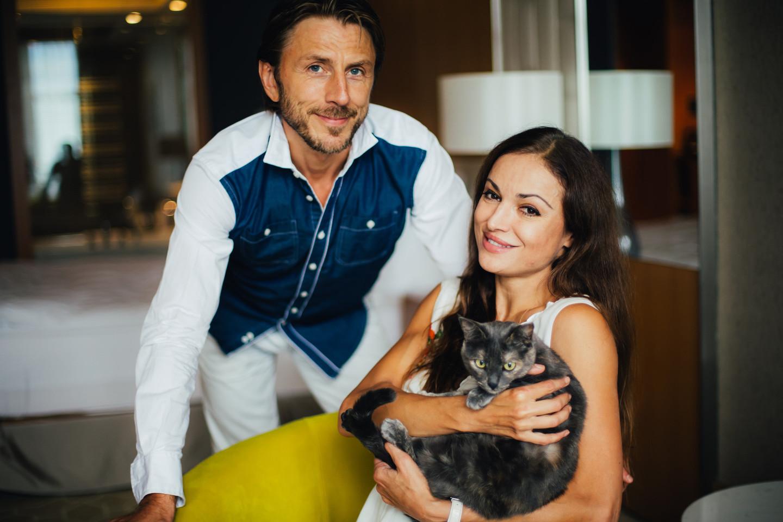 "Margarita Drobiazko ir Povilas Vanagas.<br>Fotografuota ""Rixos Krasnaya Polyana Sochi"" viešbutyje."