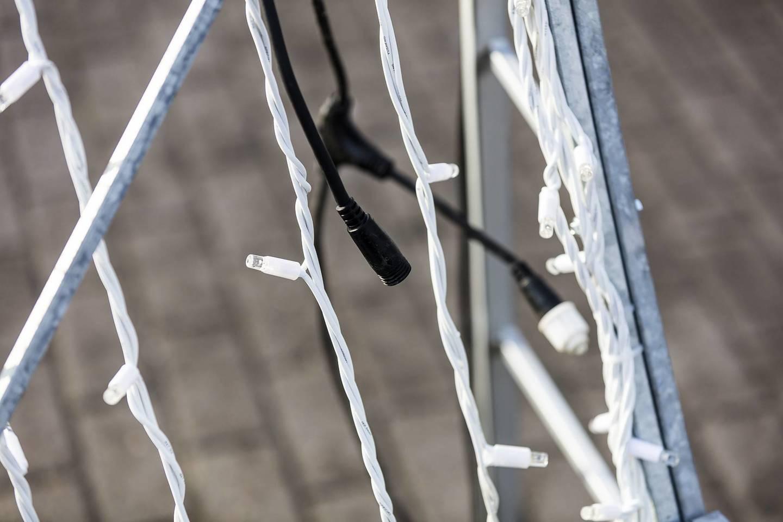 Pavojus augintiniams: šventinė miesto puošmena krėtė elektros srove.<br>G. Balčiūno nuotr.