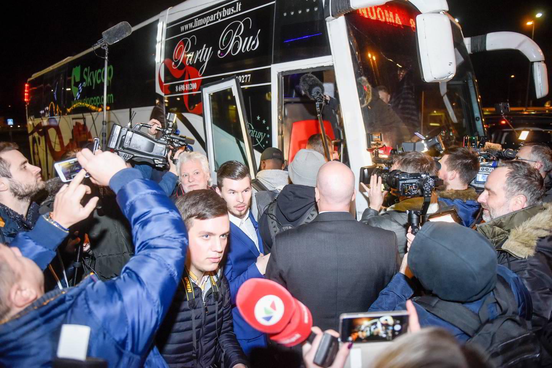 Ballų atvykimo į Lietuvą akimirka.<br>J.Stacevičiaus nuotr.