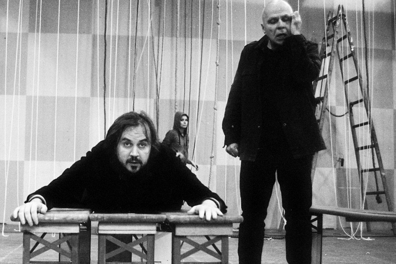 """Režisierius Oskaras koršunovas """"Katedros"""" repeticijose.<br>T.Ivanausko nuotr."""