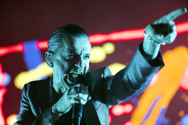 """""""Depeche Mode"""" vokalistas D.Gahanas.<br>AP nuotr."""