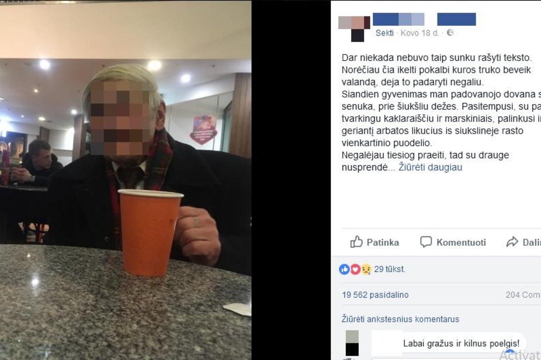 Jaunos merginos žinutė apie sutiktą senuką sulaukė neįtikėtinai didelio dėmesio.<br>Facebook nuotr.