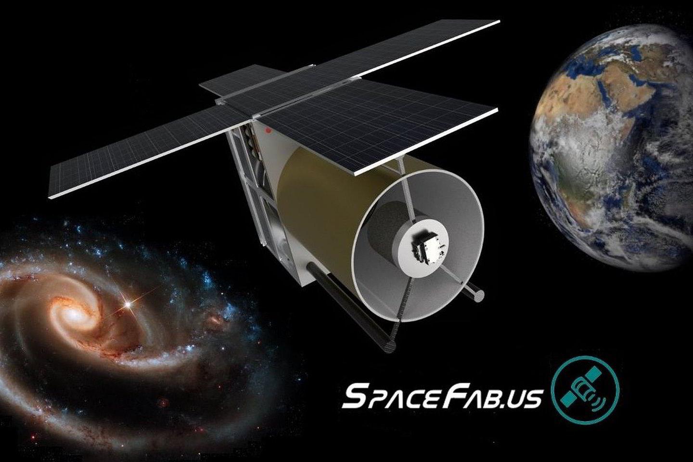 """""""SpaceFab""""planuoja pagaminti ir į kosmosą iškelti nedidelį 21 cm skersmens teleskopą, kuris būtų prieinamas praktiškai kiekvienam norinčiam.<br>SpaceFab iliustr."""
