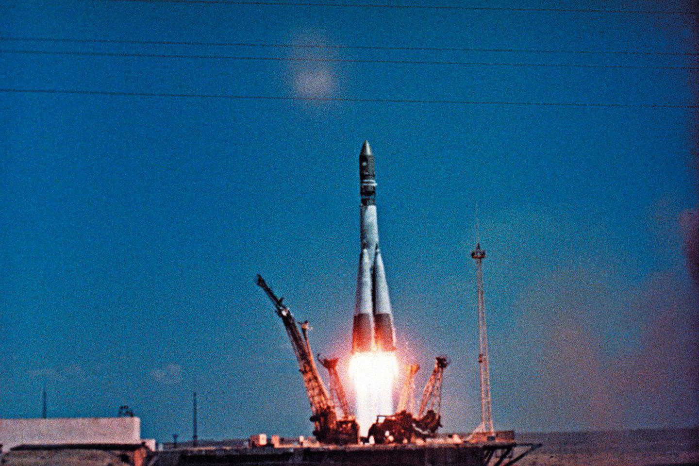 """J.Gagarinas kyla į kosmosą.<br>""""Scanpix"""" nuotr."""