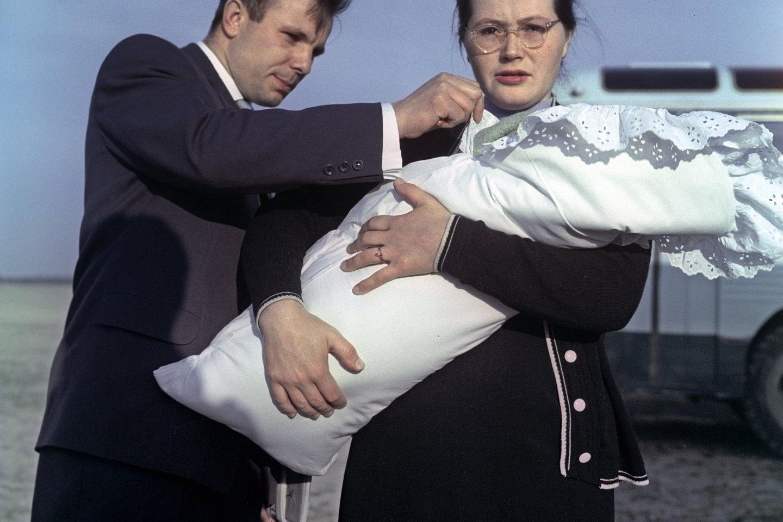 """J.Gagarinas su žmona ir dukra.<br>""""Scanpix"""" nuotr."""