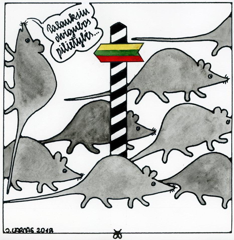 Jono Varno karikatūros – visuomet šmaikščios ir aktualios.<br>Nuotr. iš asmeninio archyvo