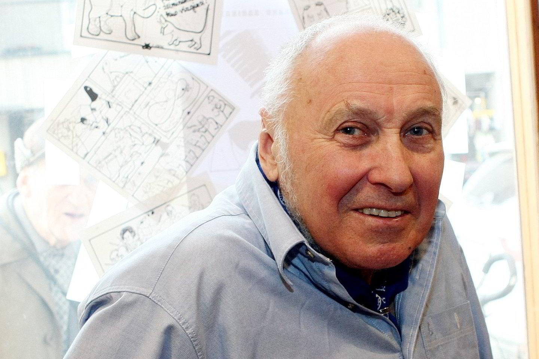 Karikatūrininkas Jonas Varnas – visada geros nuotaikos.<br>R.Danisevičiaus nuotr.