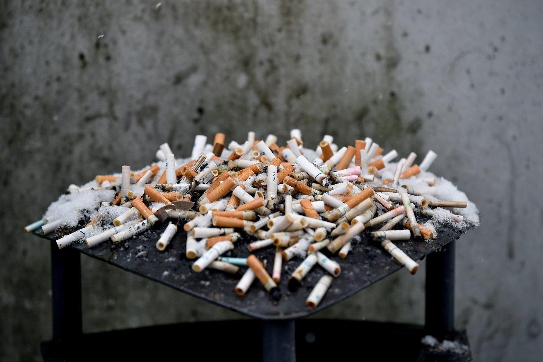 Per metus vienas Lietuvos gyventojas surūko apie 1 tūkst. cigarečių.<br>V.Ščiavinsko nuotr.