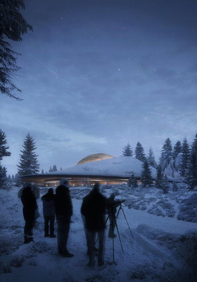 """Objektas bus baigtas statyti 2020-aisiais.<br>""""Snøhetta"""" vizualizacija"""