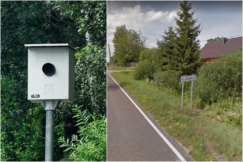 Vyras įsitikinęs, kad tokioje vietoje įrengtas greičio matuoklis neturi didelės įtakos eismo saugumui.<br>V. Ščiavinsko ir Google Maps nutr.