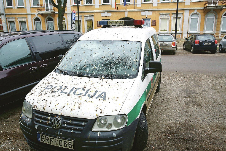 Dėl sparnuočių kenčia ir Laisvės alėjoje automobilius paliekantys pareigūnai.