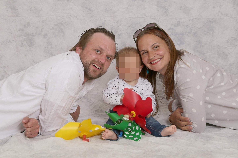 Arūnas, Alvija ir jų jauniausioji dukra.<br>Asmeninio archyvo nuotr.