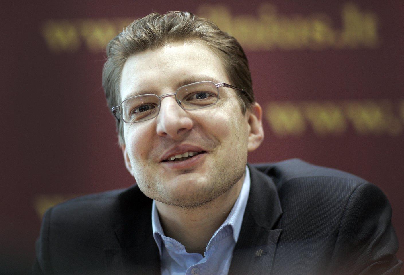 Lietuvos žurnalistų sąjungos pirmininkas Dainius Radzevičius.<br>V.Balkūno nuotr.