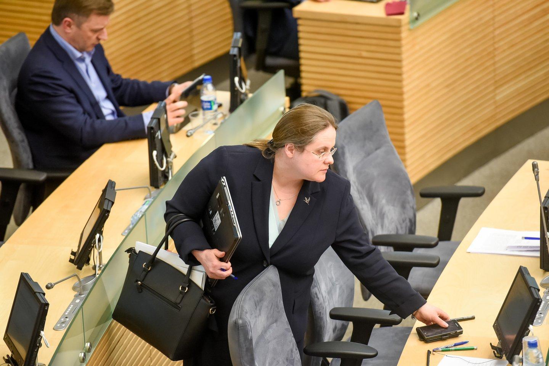 Prezidentės Dalios Grybauskaitės laiškus tiria Seimo Teisės ir teisėtvarkos komitetas, jo pirmininkė yra Agnė Širinskienė.<br>D.Umbraso nuotr.