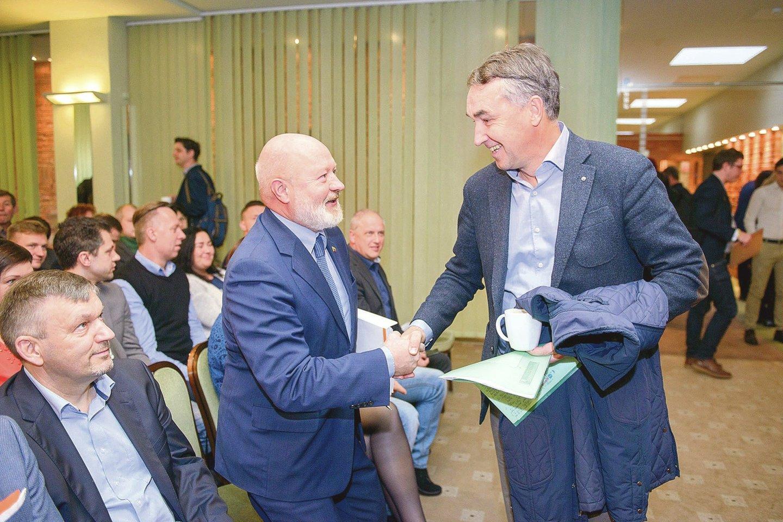 Liberalų E.Gentvilo (kairėje) ir P.Auštrevičiaus santykiai – permainingi.
