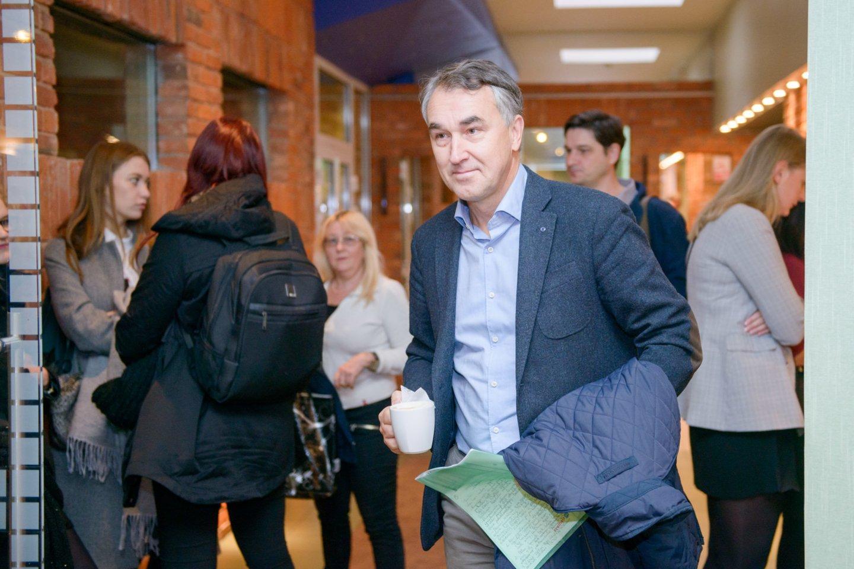 Petras Auštrevičius kels savo kandidatūrą į prezidentus.<br>J.Stacevičiaus nuotr.