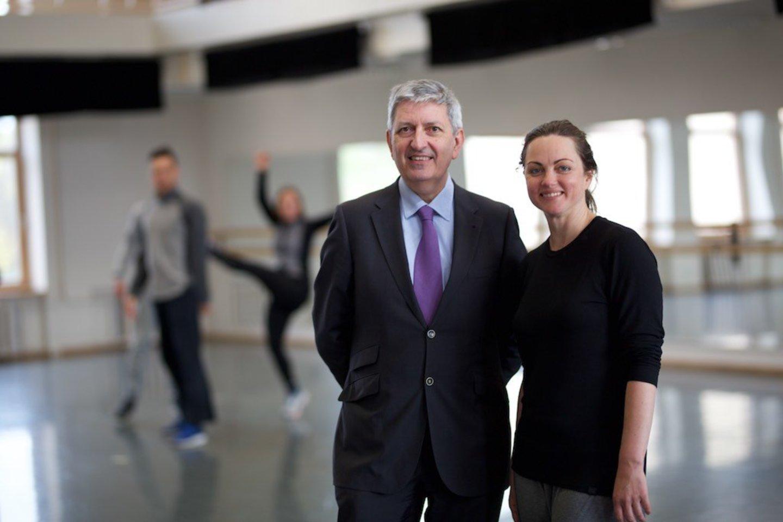 Prancūzų instituto direktorius J.M.Sani ir choreografė A.Šeiko.<br>www.kemel.lt