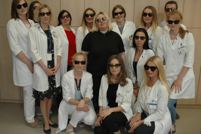 Aniridijos dienos proga – juodi akiniai kiekvienam.<br>L. Jakubauskienės nuotr.