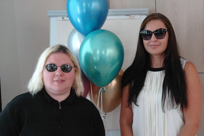 Aktyviausios vaikus, kuriems diagnozuota aniridija, auginančios mamos Vida Jočienė ir Irma Bylė žada kurti Aniridikų asociaciją.<br>L. Jakubauskienės nuotr.