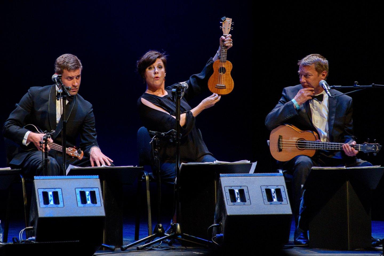 Britai propaguoja ukulelių muziką.<br>A.Kubaičio nuotr.
