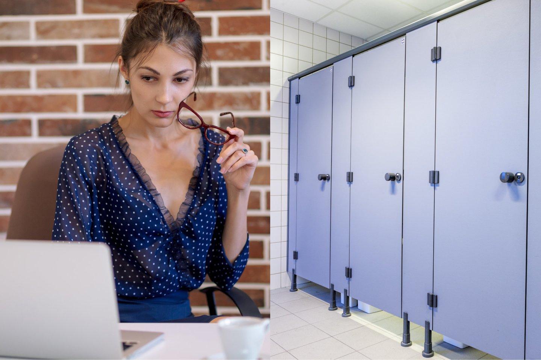 """Kolegės elgesys darbo tualete privertė sunerimti.<br>""""123rf"""" asociatyvioji nuotr."""